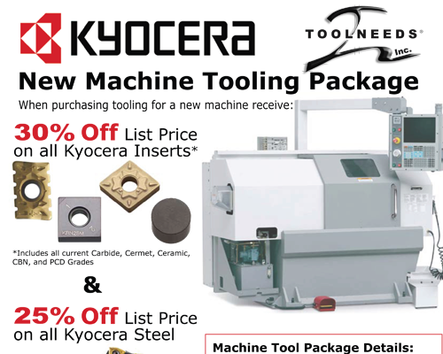 Kyocera Machine Tool-Up
